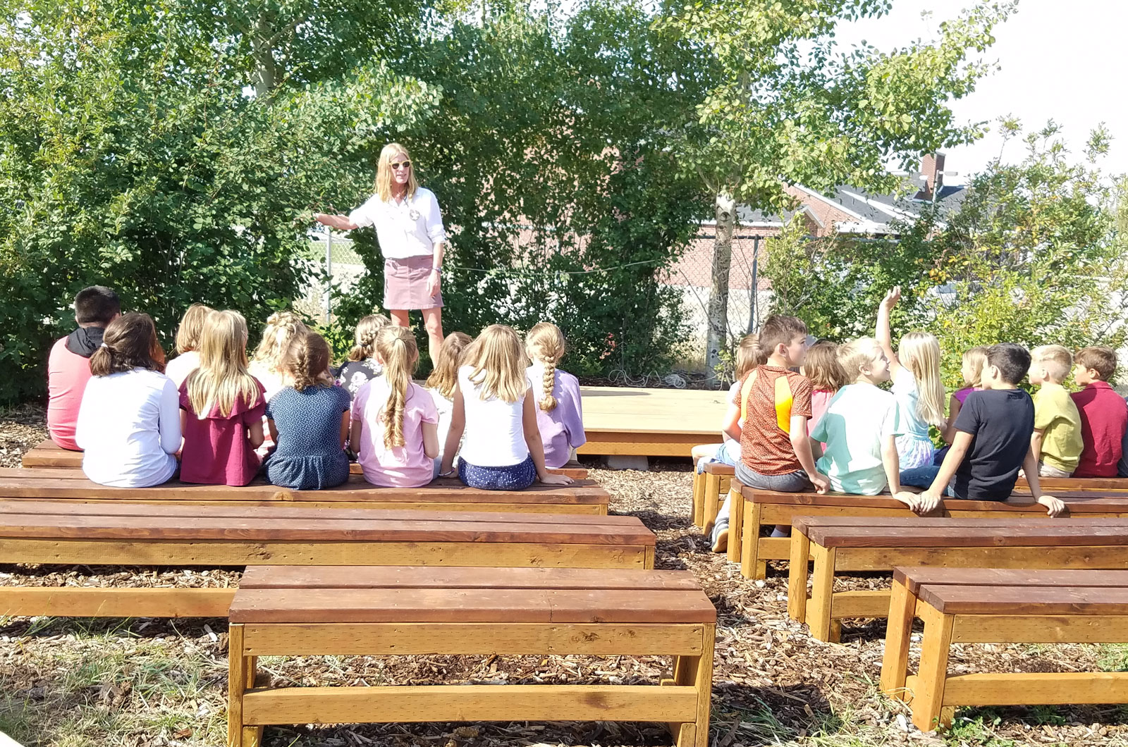 outside learning at tetonia